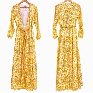 {RECC Paris} Leopard Print Maxi Duster Robe Dress